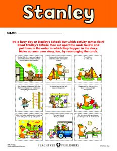 Free Downloadable Stanley Activity Sheets