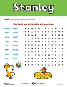 Free Downloadable Stanley Activity Sheet