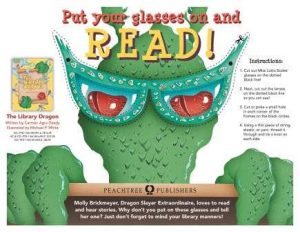 Library Dragon Glasses Cut-Out