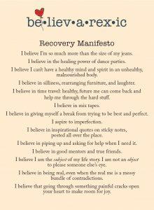 Believarexic Manifesto Postcard