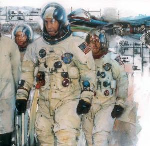astronaut scene