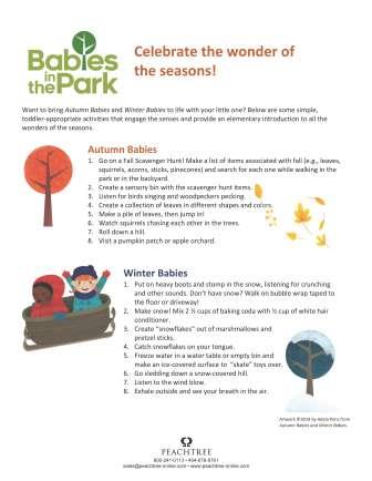 Babies in the Park Activity Sheets