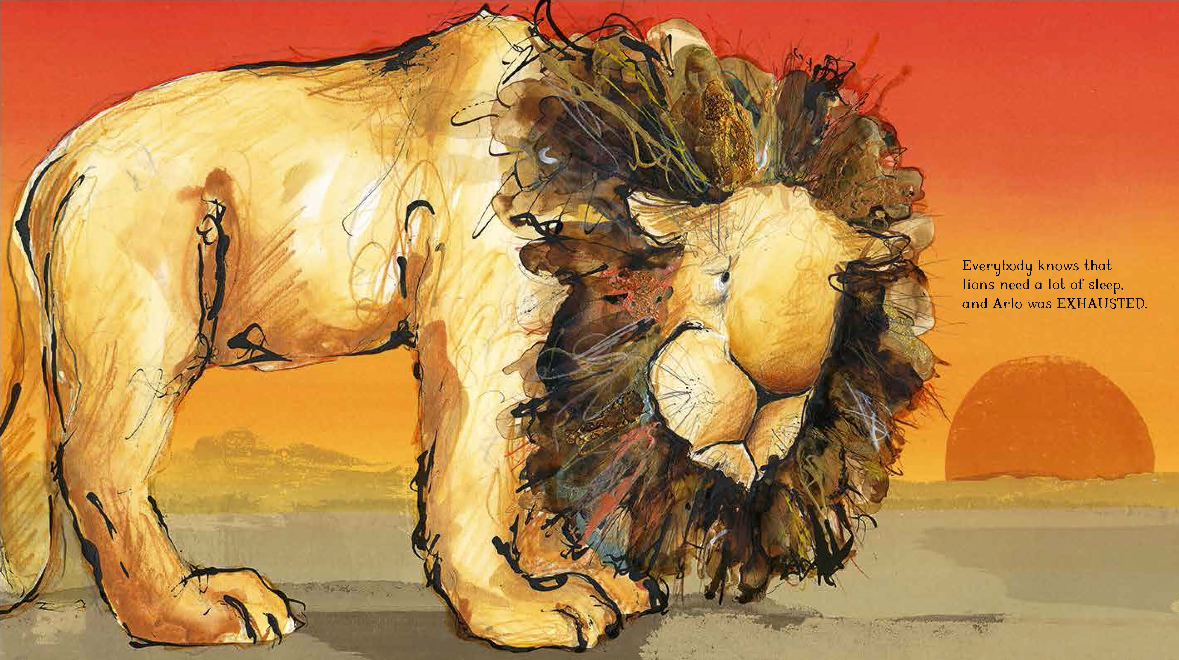 Arlo the Lion Who Couldnt Sleep Spread 3
