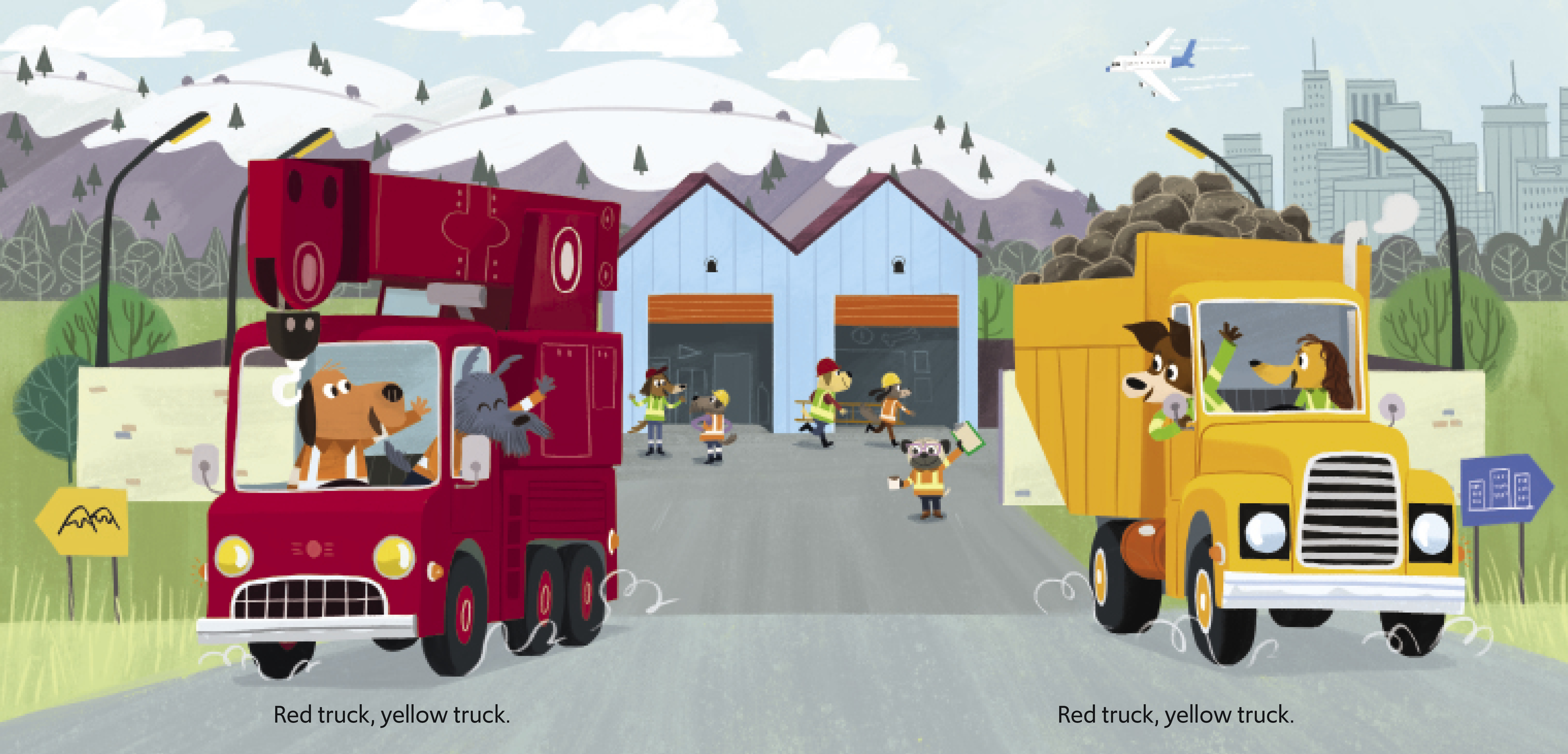 Red Truck Yellow Truck Spread 1